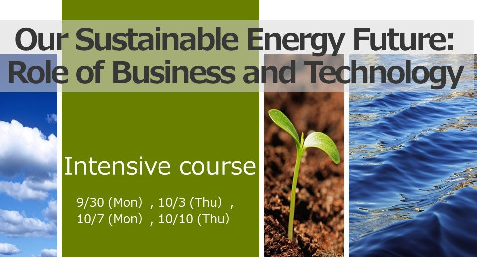 Advanced course: Intensive Course// Our Sustainable Energy Future: Role of Business and Technology