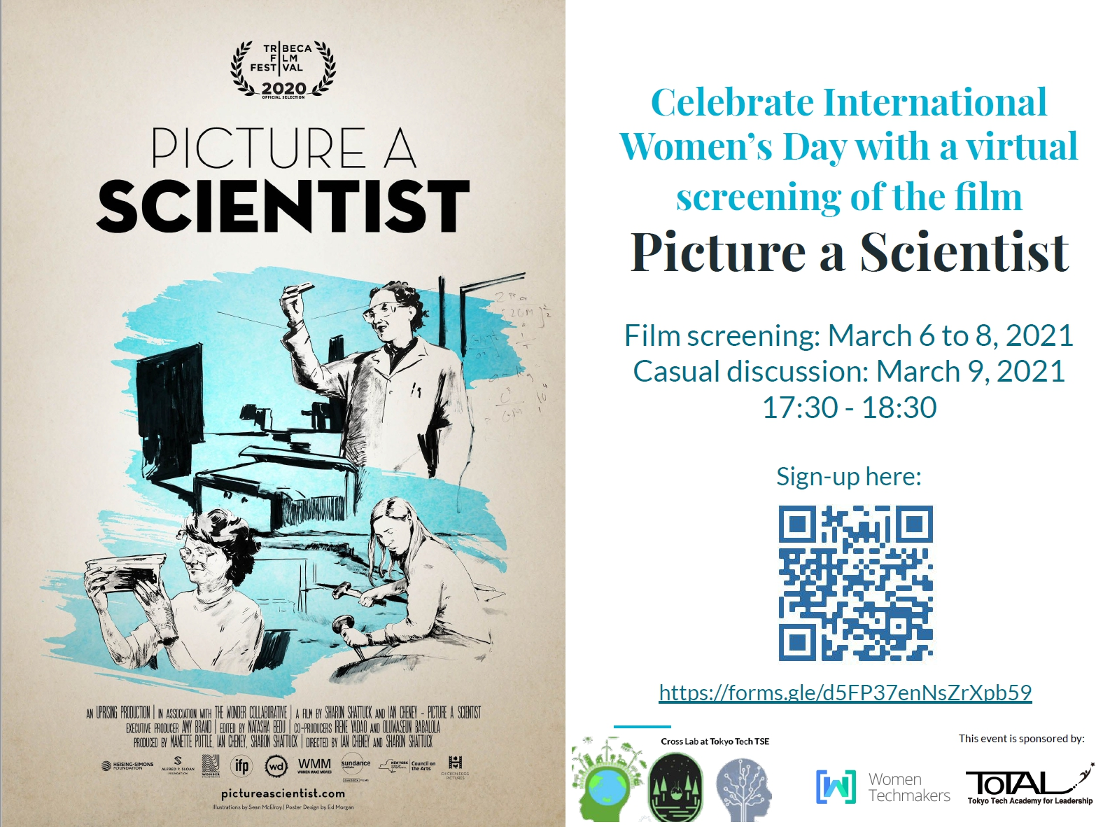 """Free virtual screening of the film """"Picture a Scientist"""" and casual discussion"""
